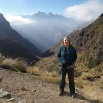 Alison Stirling, artist, on the Inca Trail in Peru