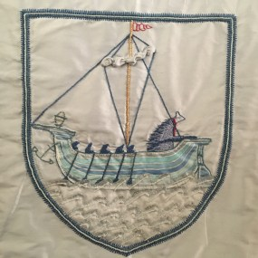 Banner in St Andrew's Church, Gravesend. Photo by Sarah Sparkes