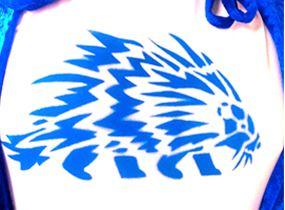 Sarah Sparkes: Blue Porcupine Stencil, 2021