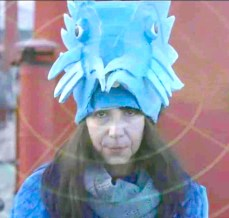 Sarah Sparkes as the Blue Porcupine in Hell or High water on LV21, film by Gary Weston