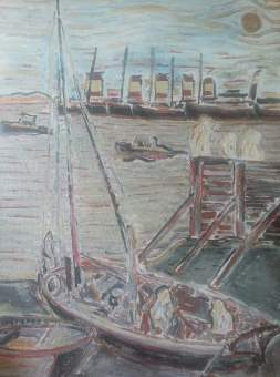 Duncan Grant: Bawley boat in Bawley Bay