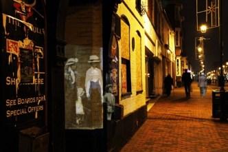 Carol Crosby, artist, Traces of Sittingbourne projection