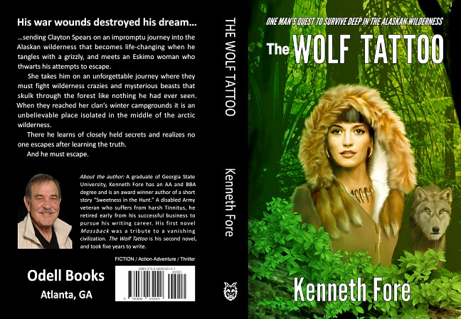 Kenneth Fore Wolf Tattoo wraparound book cover layout