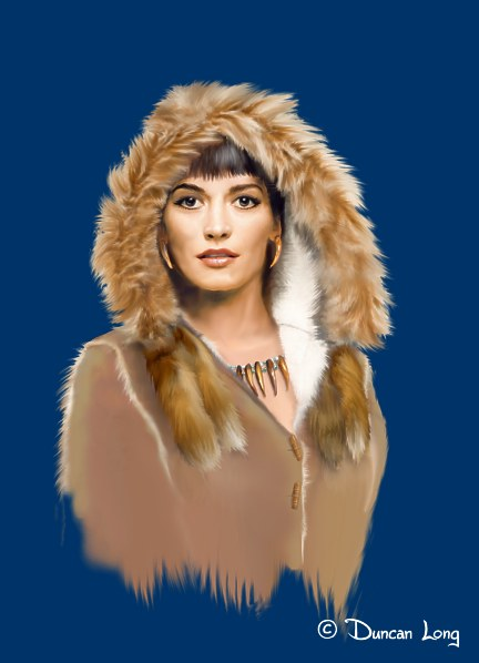 Wolf Tattoo book cover - gal with fur and jewelry