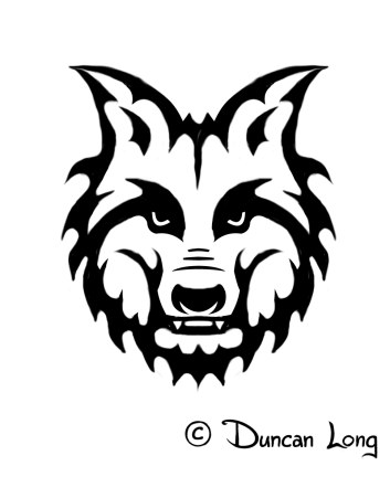 Wolf Tattoo spine detail icon
