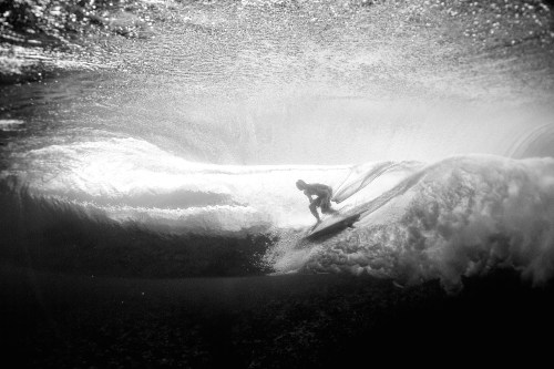 Ryan Callinan, Tahiti, Teahupoo, Underwater, underwater photography, surfing, surf photography, black and white, aquatic, Billabong, Billabong Teahupoo pro, Reef, tropical, Duncan Macfarlane photography,