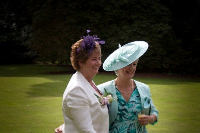 the mother of the bride (on the right)