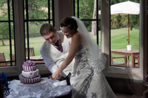Cuting the cake