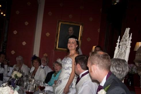 The bride in mid speech