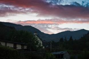 Sunset over the Sun inn