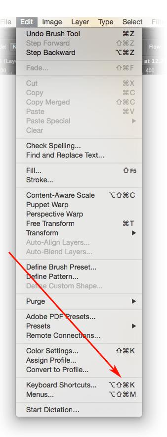 Keystrokes work faster work smarter customise menu