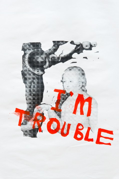 'Trouble' by Dundee Print Collective