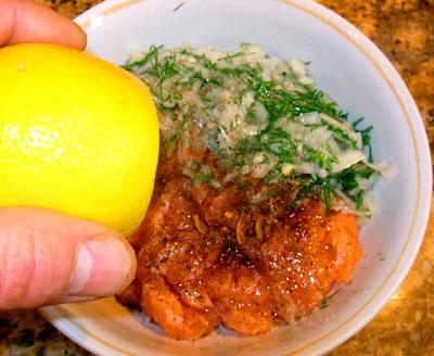 добавление лимонного сока в сагудай