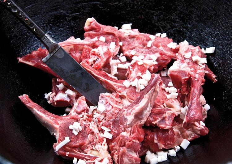 сало и мясо для шурпы