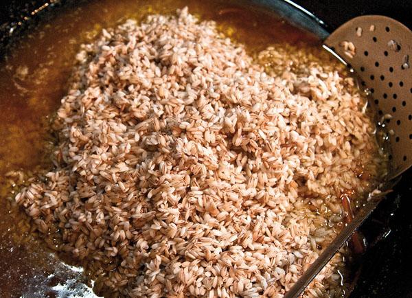 закладка риса в зирвак