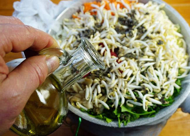 добавление оливкового масла