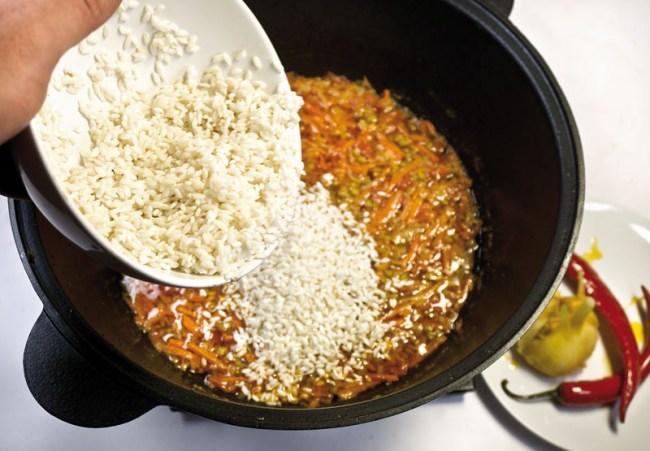 добавление риса в постный машкичири