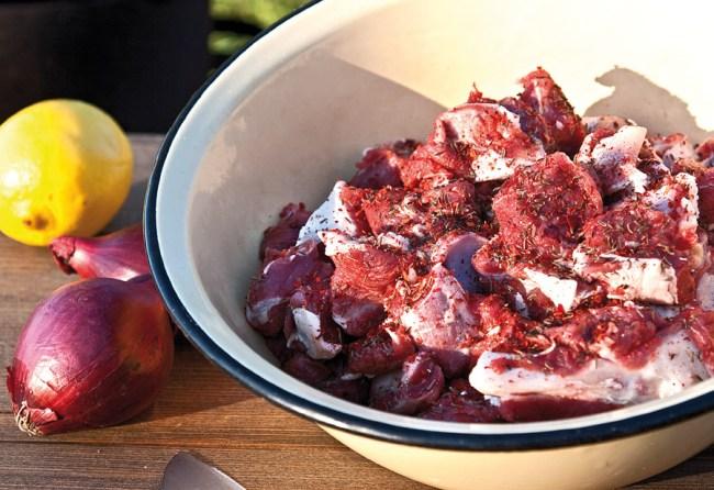 маринование мяса для казан-кебаба