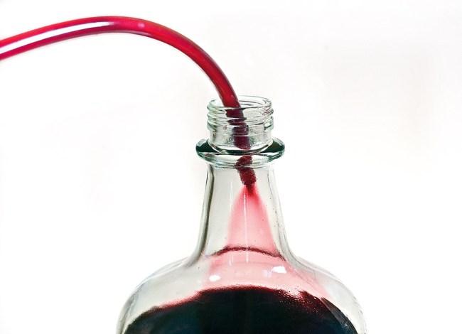 тонкая фильтрация вина из черники