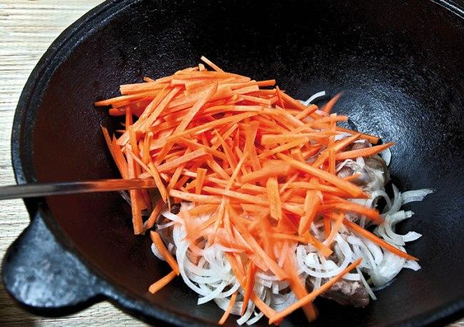 закладка лука и моркови