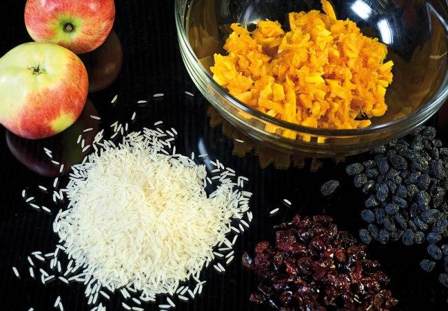 компоненты для начинки тыквы