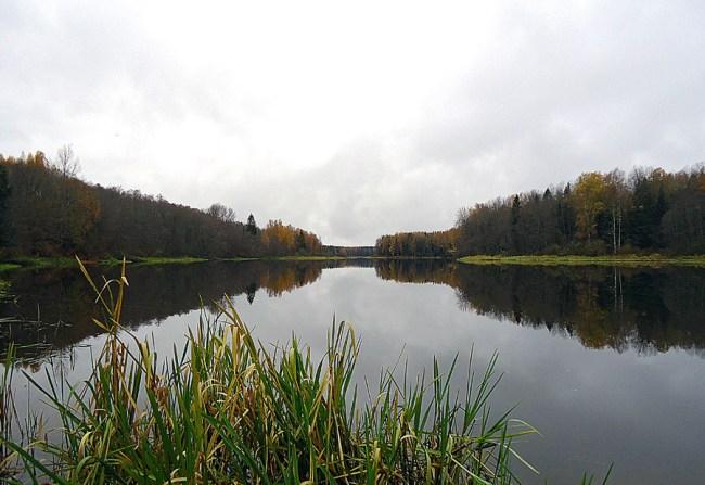 октябрь на озере Волго