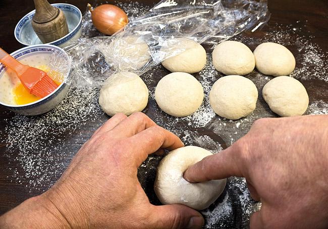формирование узбекской лепешки
