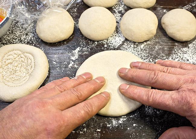 второй способ формирования узбекской лепешки