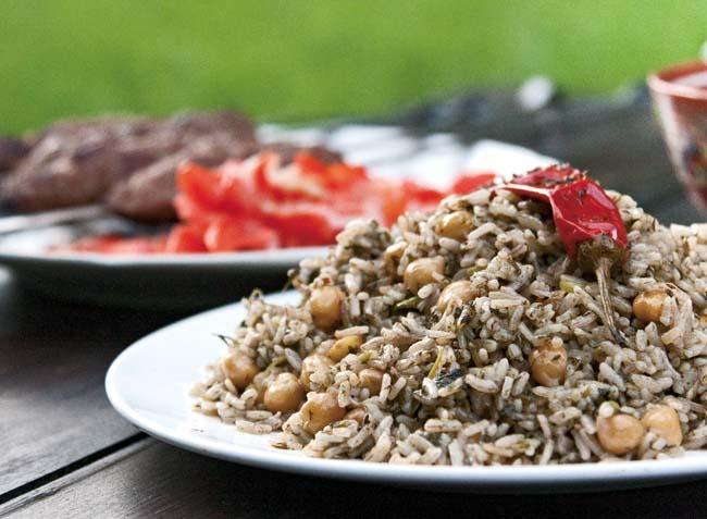 сервировка и подача бахша - вегетарианского плова