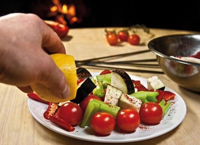 подготовка микста овощей для особого шашлыка - титрама-кебаба