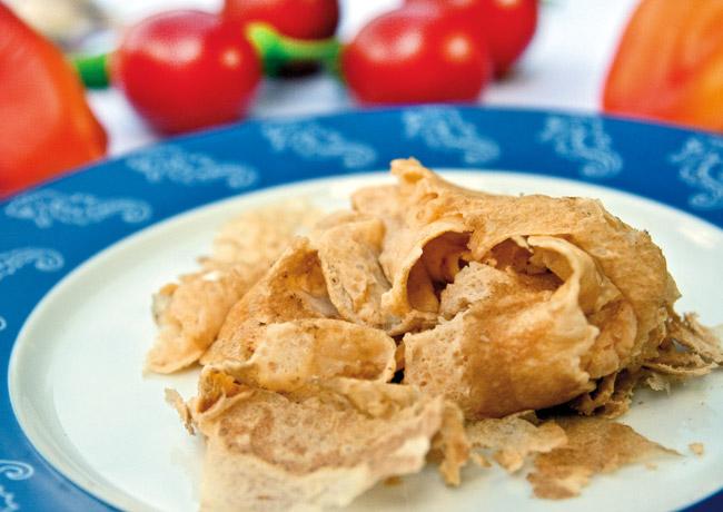 яичные блинчики для мампара - дунганского супа с клецками