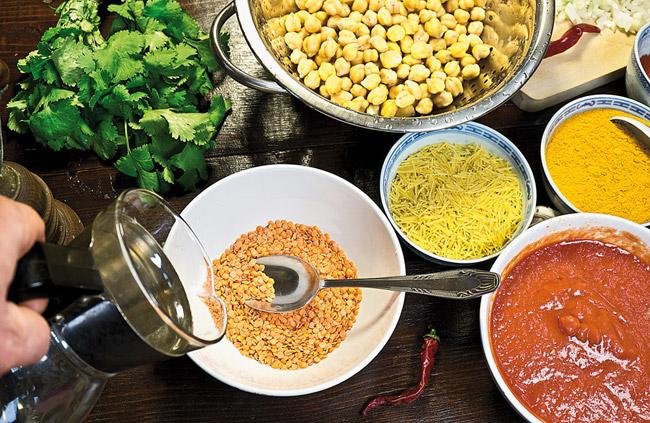 подготовка чечевицы для хариры на хаше