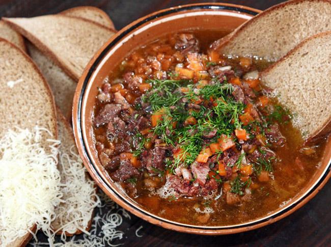 сервировка и подача карчерато - густого итальянского супа