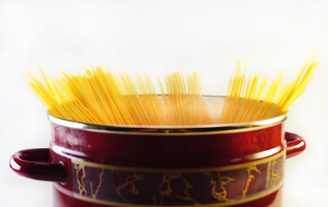 отваривание спагетти