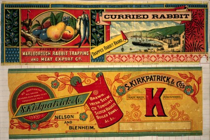 Marlborough_Rabbit_Trapping_and_Meat_Export_Company._Curried_rabbit,_trapped_rabbit_brand_-_Wilson_and_Horton_lith,_Auckland_(and)_S_Kirkpatrick_and_Co._Trade_mark_K_registered_-_Brawn,_