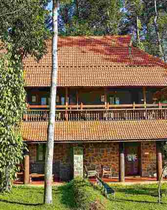 A relocated 150 years old Kerala house in the middle of the plantation