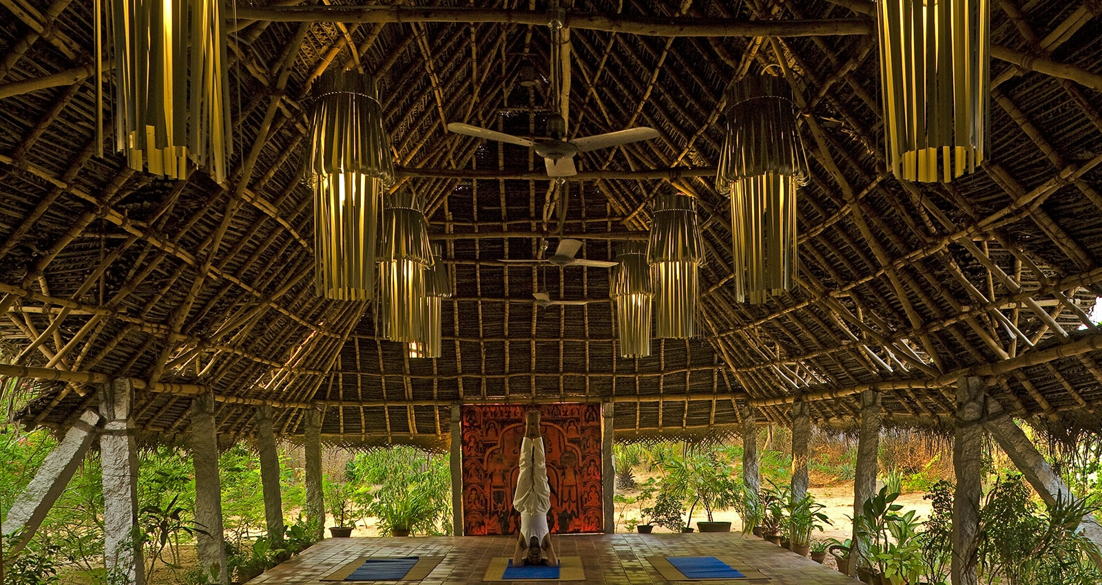 Image of the Yoga Hall at Chopta healing center at Dune eco village and Spa near Puduchery