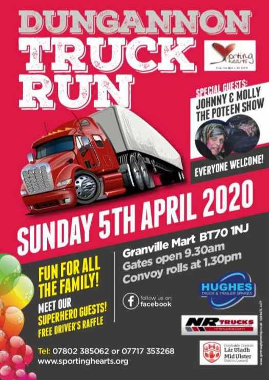 Dungannon Truck Run - Sunday 5th April!