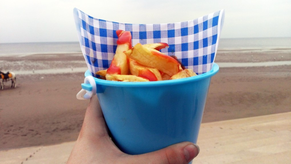 Chips at the beach