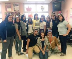 A group picture with my journalist senior class and our sponsor, Mrs.Borges.