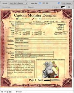 Monster Maker Designer page 1