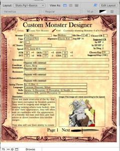 Monster Maker Designer page 1