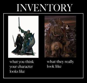 RPG inventory funny dnd picture
