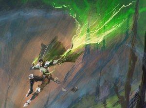 5e Cantrip Spell Green Flame Blade by Daniel Denova