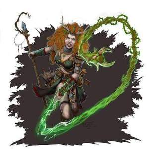 5th edition cantrip spell- thorn whip by GraphicGeek