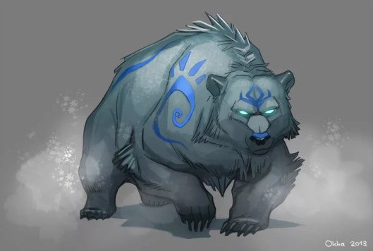 Ice bear D&D reskinning reflavoring creature