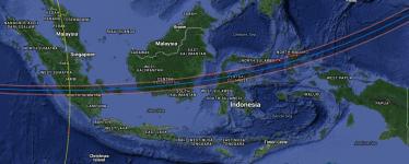 Peta Interaktif Gerhana Matahari Total 9 Maret 2016 di Indonesia