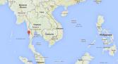 Map showing Myanar and Mergui Archipelago
