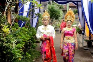 Wedding ceremony in Bali