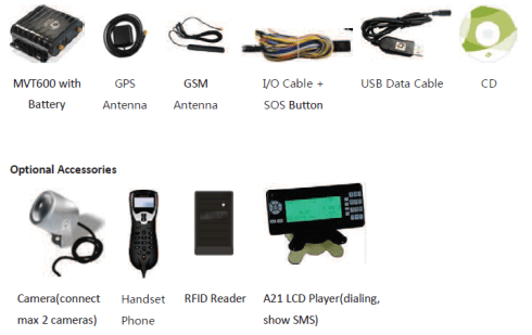 Accessories MVT 600
